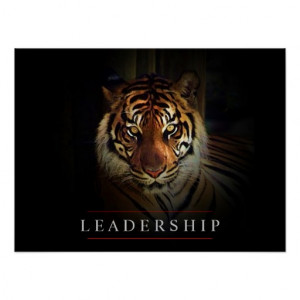 Motivational Leadership Tiger Eyes Poster Print