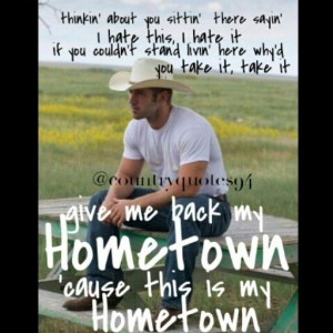 give me back my hometown - Eric Church love this song brings back long ...