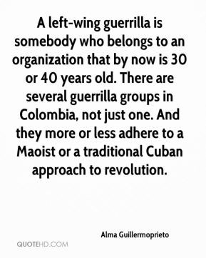Alma Guillermoprieto - A left-wing guerrilla is somebody who belongs ...