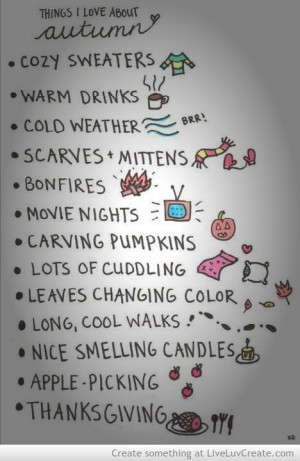 Things I love about autumn #quotes its almost here! I like this ...