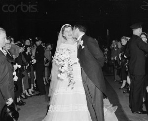 Sargent Shriver and Eunice Mary Kennedy at Their Wedding