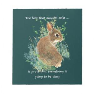 Divorce Inspiration Humor Quote Bunny Memo Notepad