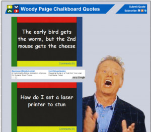 Woody Paige Blackboard Quotes Site