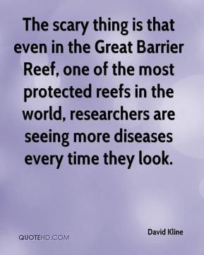 that even in the Great Barrier Reef, one of the most protected reefs ...