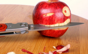 Funny Apple Knife Wallpapers Pictures Photos Images