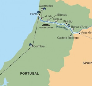 portugal spain and the douro river valley river cruise map jpg