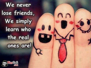 Real friends and fake friends wise quote which is very nice and this ...