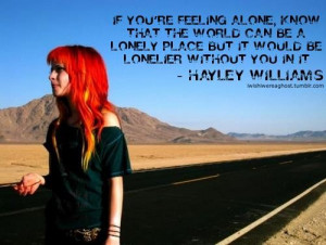 If you're feeling alone
