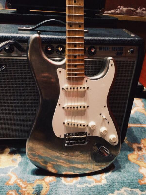 Fender Custom Shop made this nickel plated Strat…believe it or not ...