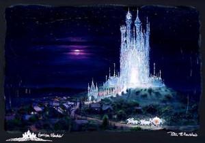 Peter Ellenshaw - Cinderella - The Glass Castle - Chiarograph