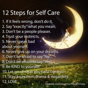 12 steps of self care
