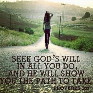 Seek Ye First the Kingdom of God.