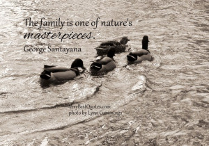 Inspirational quotes about family, The family is one of nature's ...