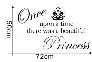shipping crown princess vinyl wall decals quotes stickers,princess ...