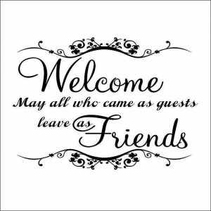 Welcome home quotes wall stickers