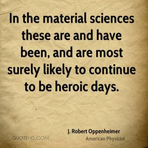 Robert Oppenheimer Quotes