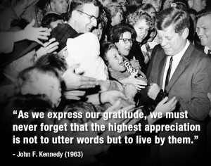 President John Kennedy walked to the barrier, holding back crowd after ...