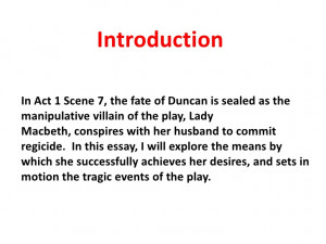 good essay introduction macbeth