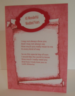 45th Wedding Anniversary Poem. Husband Quotes From Wife Funny. View ...