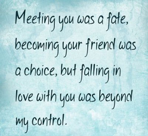 Beyond My Control - Romantic Quote
