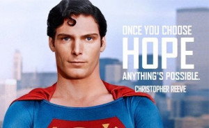 The amazing Christopher Reeve, popularly known as the Superman.