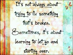 starting over...
