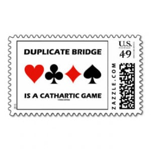 Duplicate Bridge Is A Cathartic Game (Card Suits) Stamps