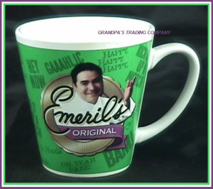 Details about Emerils Original Green Mug BAM Emeril LaGasse Chef Gift