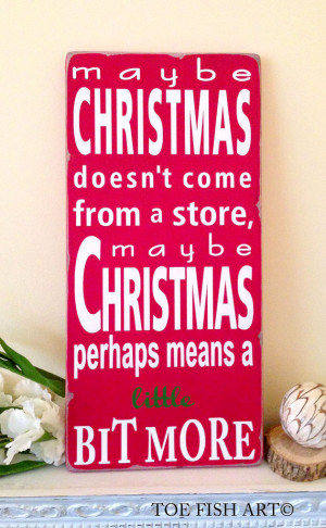 Dr Seuss Quote - How the Grinch Stole Christmas- Typography Word Art