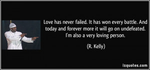 Love has never failed. It has won every battle. And today and forever ...