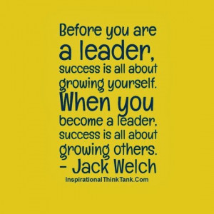 Leadership quote on success by Jack Welch.