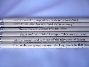 10. Hunger Games Pencils ! What a genius idea! $10