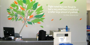 School Library wall decal at Sunrise Christian School
