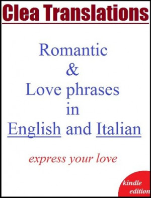 English To Italian romantic and love phrases