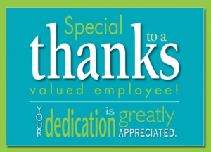 Employee Recognition Thank You Employee appreciation card