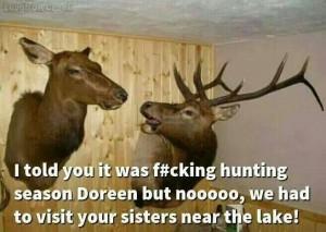 funny deers hunting season