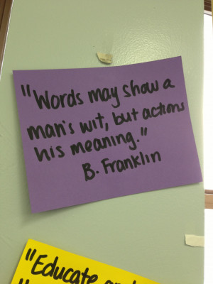 My classroom is adorned with inspirational quotes that directly relate ...