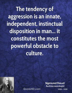 The tendency of aggression is an innate, independent, instinctual ...
