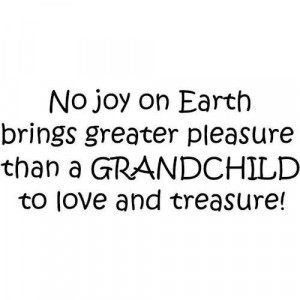 No Joy On earth Brings Greatest Pleasure Than A Grandchild To Love And ...