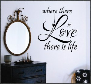 Vinyl Wall Lettering Words Romantic Quotes Decals Where Love is