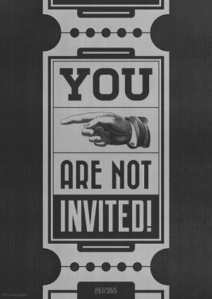 You're Not Invited To My Wedding: A Discussion