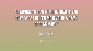 Learning to read music in Braille and play by ear helped me develop a ...