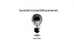 Famous Thomas Edison Quote High Resolution Wallpaper, Free download ...