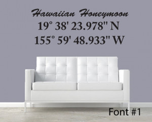 Latitude longitude Coordinate Wall Decal Personalized with coordinates ...