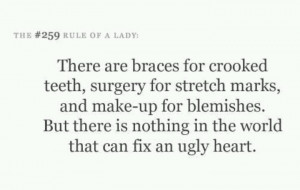ugly heart= yuck