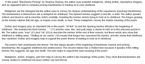 essay on Blackberry-Picking by Seamus Heaney Poem Review