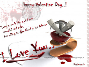 Valentine Day Greeting Love With Blood quotes .