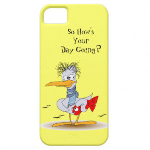 How's Your Day Going Funny Stressed Bird Seagull iPhone 5 Cases
