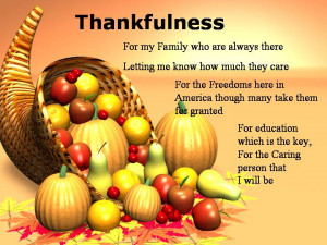 prior to Thanksgiving break, students will create aThanksgiving poem ...