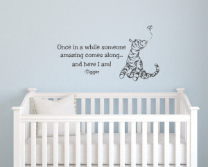 Classic Tigger baby quote vinyl wall decal Classic Pooh